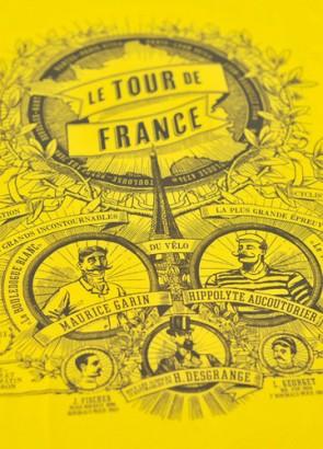 Close-up for 190 Tour de France T-shirt design