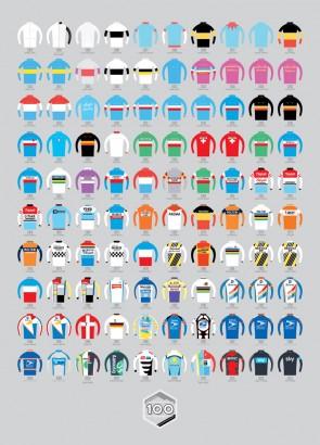 Tour de France Cycling Jerseys art print