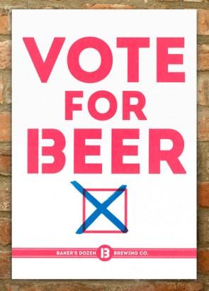 Vote for Beer screenprint